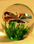 Butterfly Rainbow Glow Paperweight