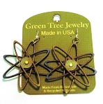 GreenTree earrings - Atomic, brown