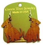GreenTree earrings - Dog, C