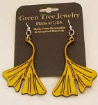 GreenTree earrings - Ginko leaves, LY