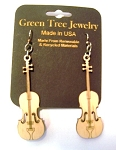GreenTree earrings - Violin, NW