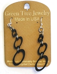 GreenTree earrings - Ovals, black