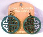 GreenTree earrings - Celtic Sign, teal
