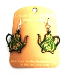 GreenTree earrings - Green Teapot