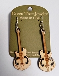 GreenTree earrings - Electric guitar, cinnamon
