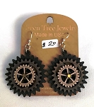 GreenTree kinetic earrings - Triple Gear, E