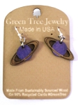 GreenTree earrings - Saturn, purple