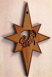 Red Alder Nativity Star Ornament