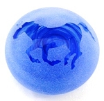 Frosted paperweight horse blue