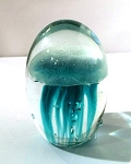 Jellyfish Baby Paperweight in Turquoise Glow