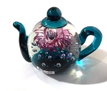 Glass Teapot Paperweight