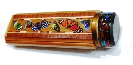 It Figures Butterfly 2 mirror kaleidoscope by Luc and Sallie Durette