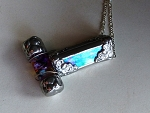 Twinkler Necklace stained glass kaleidoscope by Mike and Joann Jacobs