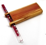 Small Wood Glitter Tube Kaleidoscope D by Dan Land