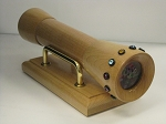 Handheld, wood, birthstone Kaleidoscope by Jim & June Mindrup