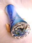 Blue Blown Glass Turning End kaleidoscope by Motohiro Sato