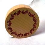 Flat Round Stamped Wooden Teleidoscope by Hiromi Toyoda