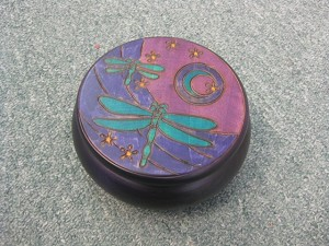 Dragonfly Moon Box - round