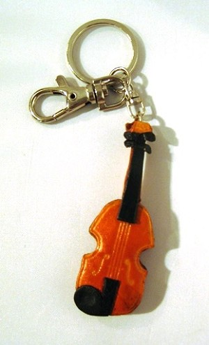 Leather Violin Key Ring