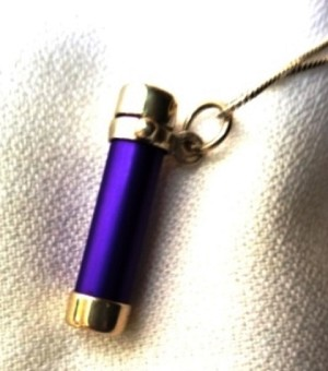Miniscope, purple kaleidoscope necklace by Deborah Healy