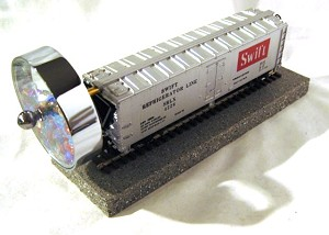 Silver Swift Model Train Kaleidoscope by John Jones
