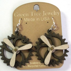 GreenTree kinetic earrings - Propeller A