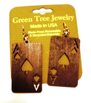 GreenTree earrings - Ace Spades, BS