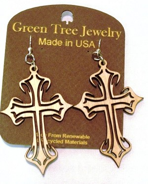 GreenTree earrings - Cross, NW