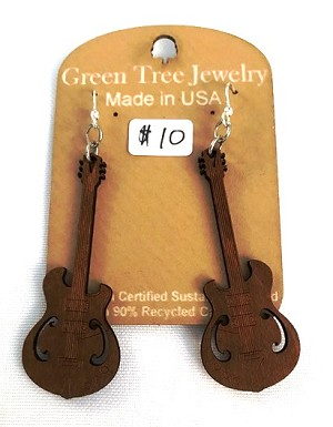 GreenTree earrings - Guitar, TA