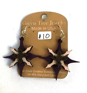 GreenTree earrings - Diamond Star, purple