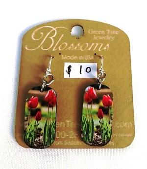 GreenTree earrings - Blossoms, tuilip image
