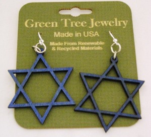 GreenTree earrings - Jewish Star, RB