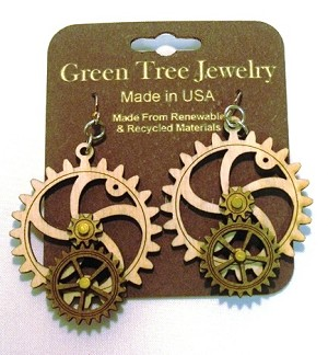 GreenTree kinetic earrings - BigLittle Gear, A