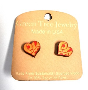 GreenTree earrings - Heart studs