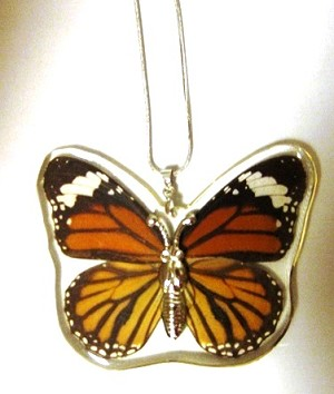 Butterfly Necklace - Monarch