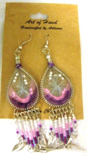 Woven Earrings with dangle8