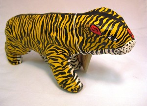 Paper Mache Orange Tiger