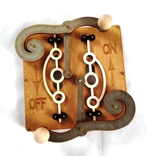 GreenTree Wooden Switch Plates - Double Levers, tan