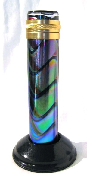 Cosmic Waves, med, 5 pt, stained glass kaleidoscope by Steve & Peggy Kittelson