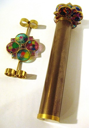 Brass Star Wheel Interchangeable Kaleidoscope by Roy Cohen