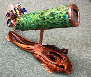 Ceramic Manzanita kaleidoscope by Failow