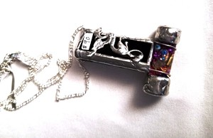41d5b12ac62a Stained Glass Trufflet Dragon Necklace by Mike and Joann Jacobs |  kaleidoscopeshop.com