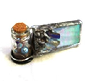 Mini kaleidoscope with crystals decoration by Cathy Painter