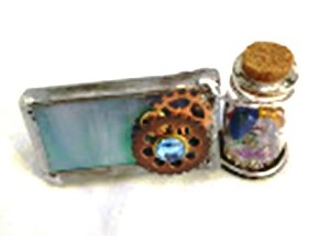 Mini kaleidoscope with gear decoration by Cathy Painter