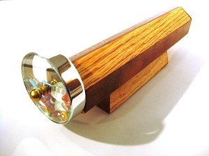Tumble Wheel Two-Tone Kaleidoscope by Mike and Donna Thibodeau