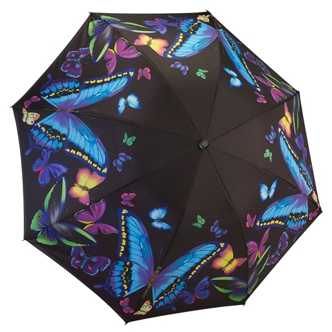 Reverse Folding Moonlight Butterflies Umbrella