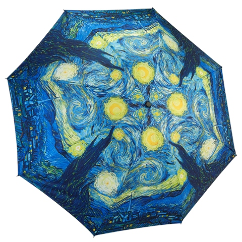 Reverse Fold Van Gogh Starry Night Compact Umbrella