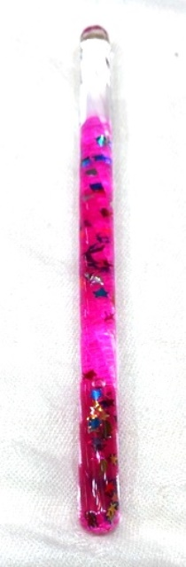 Twisted Hot Pink Glitter Tube