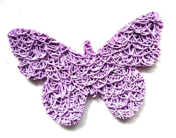 Lavender Butterfly shaped Soap Lift
