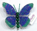 Blue Beadworx Butterfly